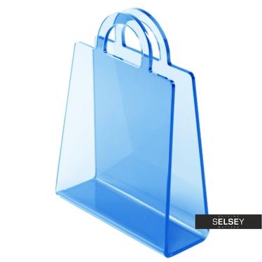 BOLSA Porte-revues bleu transparent
