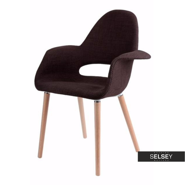 A-SHAPE Chaise rembourrée marron