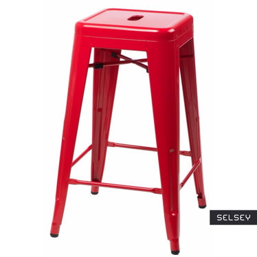 PARIS Tabouret de bar rouge 66 cm