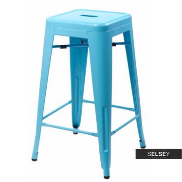 PARIS Tabouret de bar bleu 66 cm