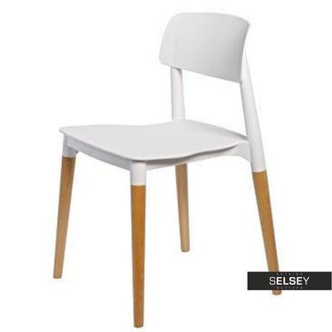 BASE Chaise scandinave blanche