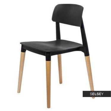 BASE Chaise scandinave noire