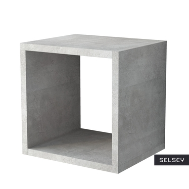 ITALIA Étagère cube murale béton