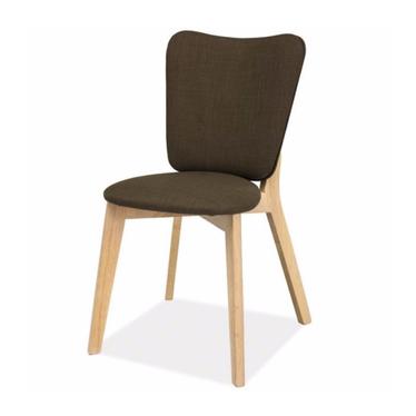 DACOTA Chaise en bois chêne blanchi / kaki
