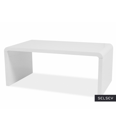 VOSTRA Table basse blanche 100 x 60 cm