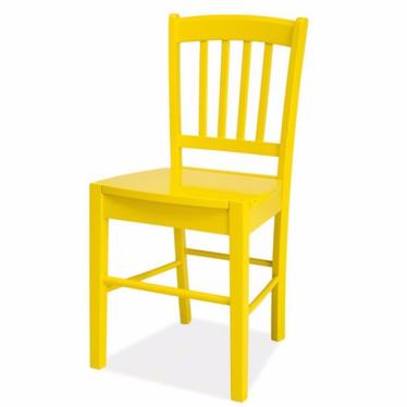 BERGEN Chaise en bois jaune