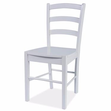 MALVIK Chaise en bois blanche