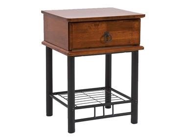 TRAPANIE Table de chevet noir / cerisier
