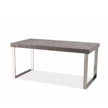 VICENZA Table basse béton pieds métal