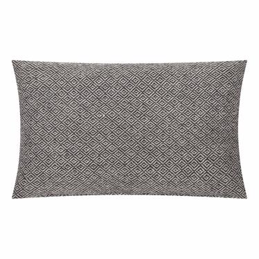KENLEY Coussin blanc / noir 30x50 cm