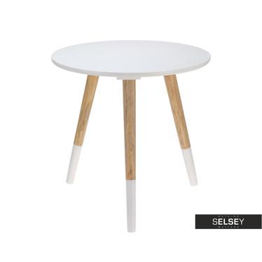 Stolik kawowy Haga średnica 41 cm biały okrągły