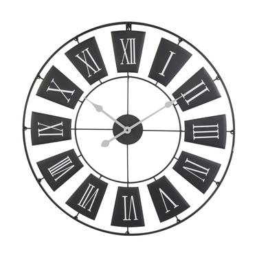 Horologe murale design 70 cm noir
