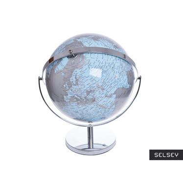 Globe terrestre gris / bleu diamètre 25 et 32 cm