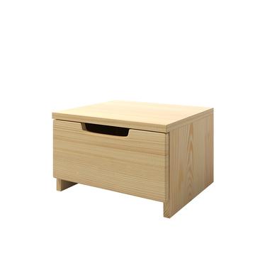 HALSA Petite table de chevet en bois de pin
