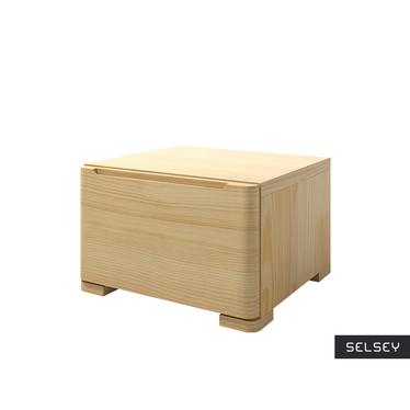 LOPAR Petite table de chevet en bois de pin