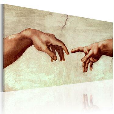 LA CRÉATION D'ADAM tableau peinture