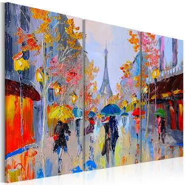 PARIS PLUVIEUX tableau peinture