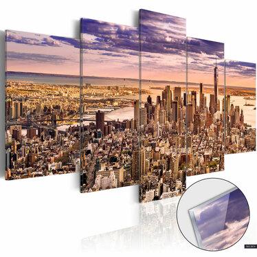 INSOMNIE À NEW YORK Tableau plexiglas
