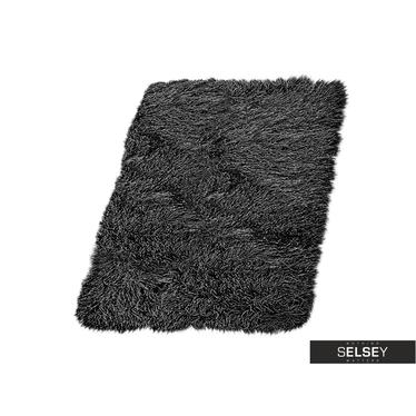 FLUFFY Tapis enfant noir 9 cm