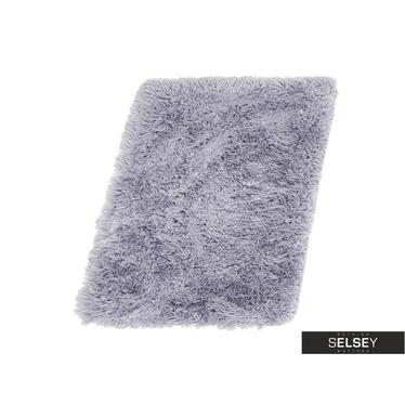 MICROFIBRE Tapis gris argenté