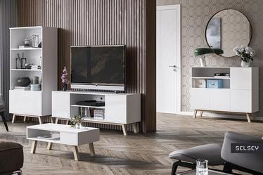 VEROZIA LIGNNUM Table basse scandinave 80x40 cm