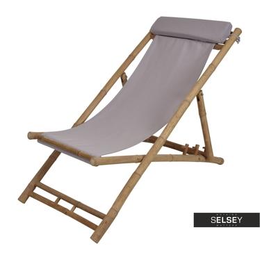 BAMBOU Chaise transat brune