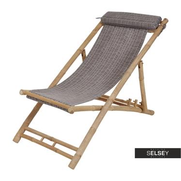 BAMBOU Chaise transat à chevrons