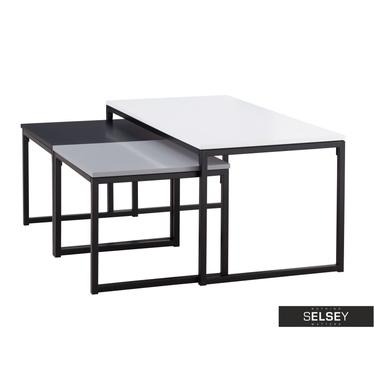MONOCHROMA Tables basses gigognes 100x50 cm et 45x47 cm