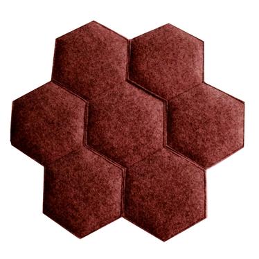 RAYON DE MIEL coussin de chaise rouge mélange 39 x 38 cm