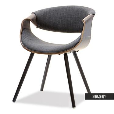 BENTE Chaise tapissée chêne fumé / graphite