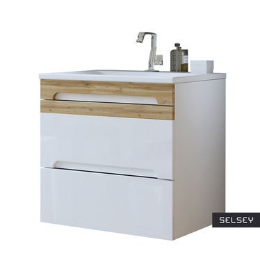 WARNER Meuble sous lavabo blanc 60 cm