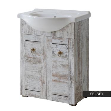 MIRAMAS Meuble sous lavabo vintage 62 cm