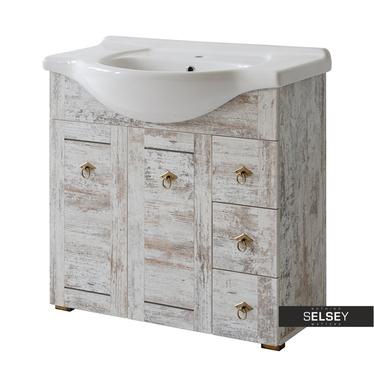 MIRAMAS Meuble sous lavabo vintage 82 cm