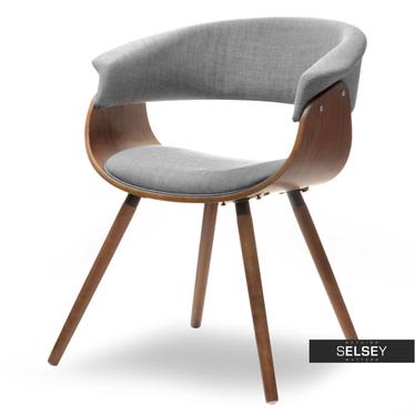 ELINA Chaise en bois noyer / gris