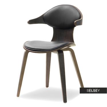 RODEO Chaise en bois chêne fumé / noir