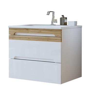 WARNER Meuble sous lavabo blanc 80 cm