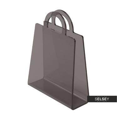 BOLSA Porte-revues gris transparent