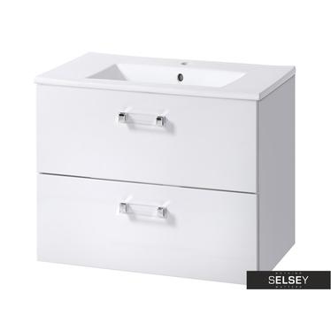 MERCADO Meuble sous lavabo blanc 60 cm