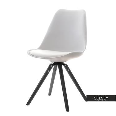 LOUIS Chaise pivotante blanc / noir
