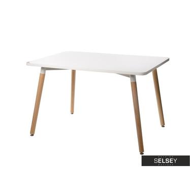 COPINE Table à manger blanche 120x80 cm