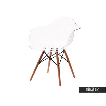 MPA WOOD Chaise transparente avec accoudoirs