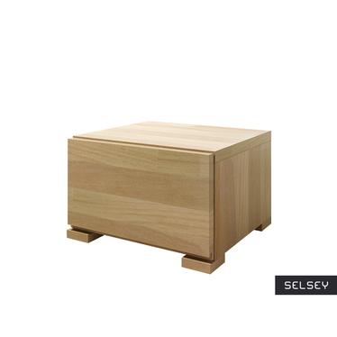 LOKE Petite table de chevet en bois de hêtre