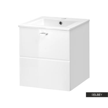 MARBELLA Meuble sous lavabo blanc 40 cm