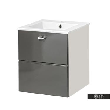 MARBELLA Meuble sous lavabo gris 40 cm