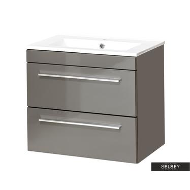 MALTA Meuble sous lavabo gris 60 cm
