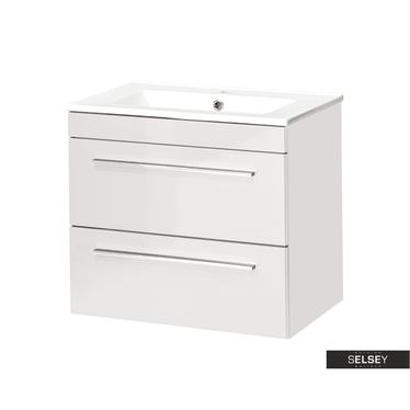 MALTA Meuble sous lavabo blanc 60 cm