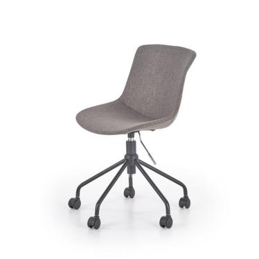 BRUNO Chaise de bureau gris argenté
