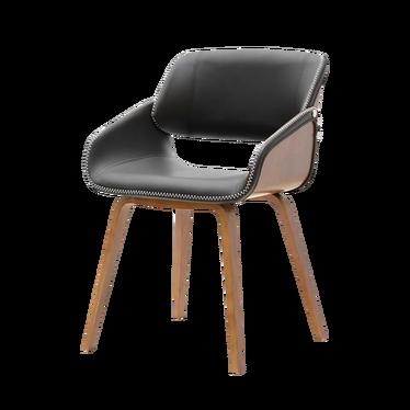 NOUGAT Chaise en bois noyer / noir