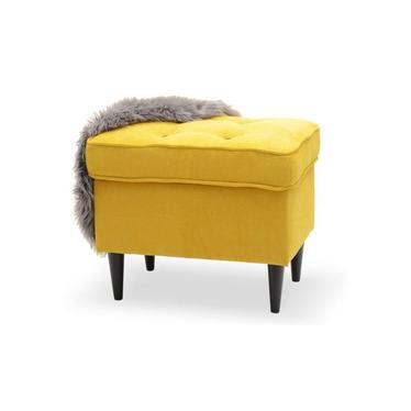 MALMO repose-pieds design jaune et noir avec boutons noirs