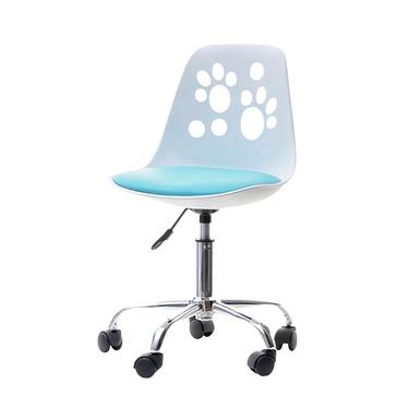 FOOT Chaise De Bureau Enfant Blanc Bleu